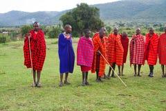 Miembro de una tribu del Masai Foto de archivo libre de regalías
