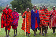 Miembro de una tribu del Masai Fotos de archivo libres de regalías