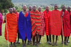 Miembro de una tribu del Masai Imágenes de archivo libres de regalías