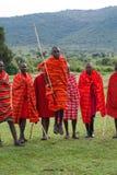 Miembro de una tribu del Masai Foto de archivo