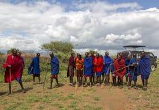 Miembro de una tribu del Masai Imagen de archivo
