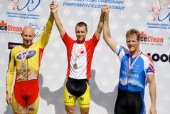 Miembro del atleta de la raza del equipo del canadiense Imagenes de archivo