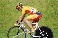 Miembro del atleta de la raza del equipo del canadiense Fotos de archivo libres de regalías