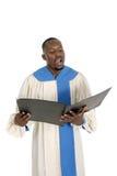 Miembro del coro que canta 1 Fotografía de archivo libre de regalías