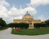 Miembro/Zagreb/Art Pavilion de la UE de Croacia foto de archivo libre de regalías