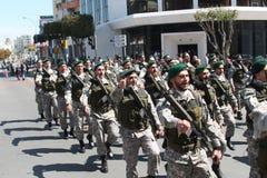 Miembros de fuerzas especiales en desfile fotografía de archivo