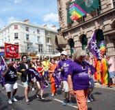 Miembros de la equidad en el desfile de Brighton Pride fotografía de archivo libre de regalías