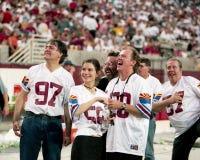 Miembros de los maniacos de la banda 10.000 en el Sun Devil Stadium Fotografía de archivo libre de regalías