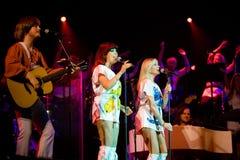 Miembros del ABBA que la demostración se realiza fotografía de archivo libre de regalías