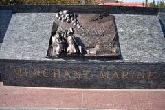 Miembros monumento, comerciante Marines del servicio de mar imagen de archivo