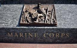 Miembros monumento, Marine Corps del servicio de mar fotografía de archivo libre de regalías