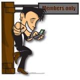 Miembros solamente Imágenes de archivo libres de regalías