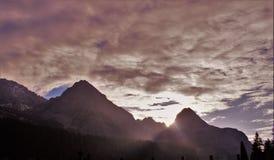 Mieminger Kette en la puesta del sol Fotos de archivo