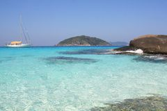 Mieng island bay, Similian islands, 4. Similian islands, island 4, Thailand Royalty Free Stock Images