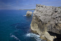 Miengo cliffs (Cantabria,Spain) Stock Photo