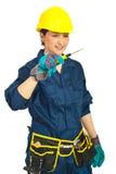 mienia śrubokrętu kobiety pracownika potomstwa Zdjęcie Stock