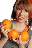 mienia pomarańcz kobieta Fotografia Royalty Free