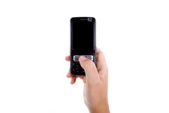 mienia telefon komórkowy kobieta Zdjęcie Stock