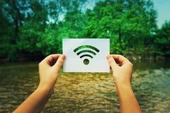 Mienia wifi symbol obraz royalty free