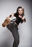 mienie armatnia kobieta fotografia stock