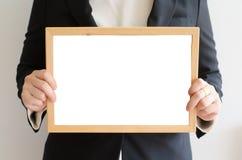 mienie deskowa biznesowa biała kobieta Fotografia Royalty Free