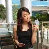 mienie karciana kredytowa kobieta Zdjęcie Royalty Free