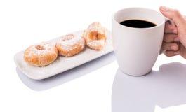 Mienie kawa Nad pączkiem II Obraz Stock