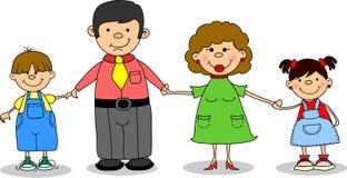 mienie rodzinny szczęśliwy wektor ilustracja wektor
