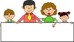 mienie rodzinny szczęśliwy wektor ilustracji
