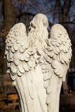 ?mier? Anioł jako symbol ból, strach i końcówka życie, Antyczna statua na cmentarzu zdjęcie stock