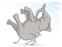 Mier die een olifant dragen Royalty-vrije Stock Foto's
