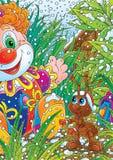 Mier en de Clown van het Stuk speelgoed bij Kerstmis Royalty-vrije Stock Foto