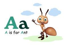 Mier met alphabate vector illustratie