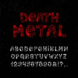 171 śmierci metal Ilustracja Wektor