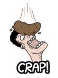 Mierda de la broma Imagen de archivo libre de regalías