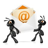 Mieren e-mail Royalty-vrije Stock Afbeeldingen