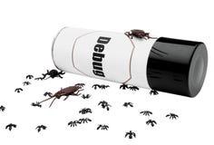 Mieren en kakkerlakken dichtbij insektenwerend middel Royalty-vrije Stock Foto