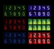 mierniki kolor sześć sieci Obraz Stock
