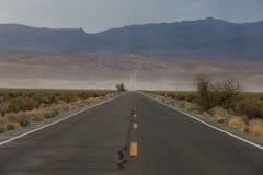 Śmiertelna dolina podczas burzy piaskowa Obraz Stock