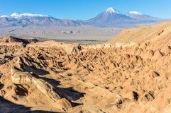 Śmiertelna dolina w Atacama pustyni, Chile Fotografia Stock