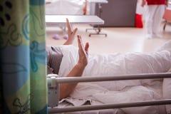 Śmiertelnie chory pacjent Zdjęcia Royalty Free