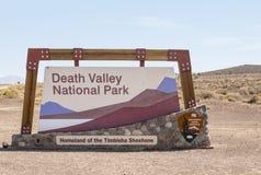 Śmiertelny dolina znak Zdjęcia Royalty Free