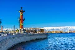 Mierzeja Vasilievsky wyspa Zdjęcia Royalty Free