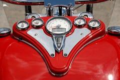 mierzy motocykl czerwień Obrazy Stock