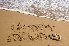Miesiąc miodowy na dennym plażowym piasku Obraz Royalty Free