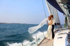 Miesiąca miodowego żeglowanie Zdjęcie Royalty Free
