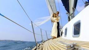 Miesiąca miodowego żeglowanie Zdjęcia Royalty Free