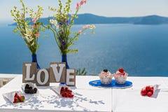 Miesiąc miodowy przy morzem Obraz Royalty Free