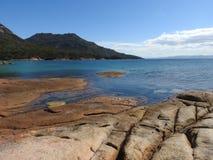 Miesiąc miodowy zatoka, Tasmania Zdjęcia Royalty Free