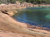 Miesiąc miodowy zatoka, Tasmania Zdjęcie Stock